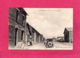 62, Pas-de-Calais, BEUGNY, Rue De Bapaume, Animée, Voiture, 1923, (Vve Mayeux, Lelong) - Sonstige Gemeinden