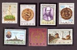 Timor Leste - East Timor 7 Timbres Neufs Et Oblitéré - Timor