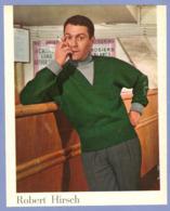COUPURE De PRESSE 1955 - 17 X 21,5 Cm - COMÉDIEN ROBERT HIRSCH SOCIÉTAIRE De La COMÉDIE FRANCAISE De 1948 1974 - Altre Collezioni
