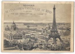 PARIS - Souvenir De L'Exposition Universelle De 1889 - Petit Fascicule Avec Vues En Accordéon - Ausstellungen