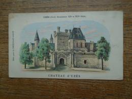 Carte Assez Rare Pub Chocolat Louit , Uzès , Château D'uzès - Uzès