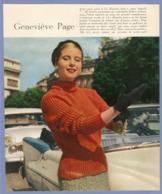 COUPURE De PRESSE 1955 - 20 X 24 Cm - ACTRICE CINÉMA TV THÉATRE - GENEVIEVE PAGE - LES ROIS MAUDITS - Altri
