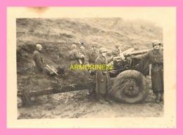 PHOTO  MILITAIRE Soldats Avec Un Canon , OBERSTEIN 1951 - Oorlog, Militair