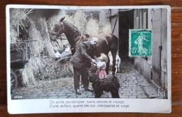 ON AIME CONTEMPLER, SANS CESSE, LE VISAGE D'UNE ENFANT, QUAND ELLE EST OBEISSANTE ET SAGE(Editions KD Ref:2008) Cheval, - Cartes Humoristiques