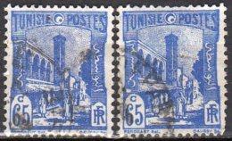 Tunisie Yvert N° 181A Oblitéré 2 Timbres Lot 12-96 - Usati