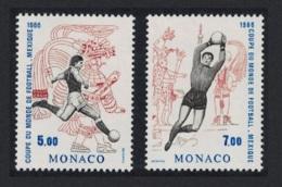 Monaco World Cup Football Championship Mexico 1986 2v MNH SG#1786 CV£8.75 - Monaco