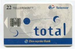 Telecarte Norvège °_ 132-Total-22 Teller-Den Norske Bank-Sc7- R/V 7016 - Noorwegen
