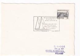 Poland 1977 Card: Sailing , Segeln; Voile; Vela; Poznan Cup Cancellation; - Sailing