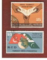 PAKISTAN  -  SG 224.225 -  1964  RCD: CO-OPERATION IRAN TURKEY PAKISTAN (COMPLET SET OF 2) -  USED ° - Pakistan