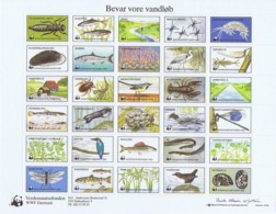 Denmark WWF 1985.  Sheet  With 30 Labels; Fauna And Flora.  Preserve Danish Nature - Non Classificati