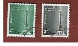 PAKISTAN  -  SG 464.465 -  1978  MINAR-E-PAKISTAN    -  USED ° - Pakistan