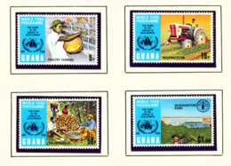 GHANA  -  1973 World Food Programme Set Unmounted/Never Hinged Mint - Ghana (1957-...)