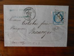 Lettre GC 1551 Forcalquier Basses Alpes Avec Correspondance - 1849-1876: Période Classique