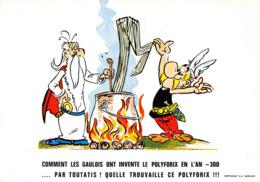 Astérix Rare Carte Postale Publicitaire Polyforix - Comics