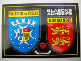 Blason Adhésif  VILLEDIEU Les POELES (50) Manche - Villedieu
