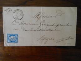 Lettre GC 1548 Fontevrault Maine Et Loire - 1849-1876: Période Classique