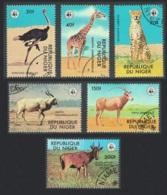 Niger Giraffe Cheetah Emu Bird WWF Endangered Animals 6v CTO SG#735-740 MI#633-638 SC#447-452 CV£6.2 - Niger (1960-...)