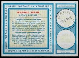 BELGIQUE / BELGIE VI19 8 FRANCS BELGESInternationalReply Coupon Reponse IAS IRC Antwortschein O SERAING 29.9.69 - Stamped Stationery