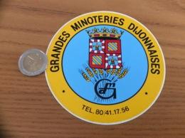 AUTOCOLLANT, Sticker «GRANDES MINOTERIES DIJONNAISES» (moulins, Blason, Blé, Dijon(21) - Stickers
