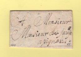 St Laurent Pour Pignans - Var - 1645 - St LAurent Du Var - Alpes Maritimes - Marcophilie (Lettres)