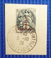 1c Blanc Surchargé 1/2 C Y&T N°157 Oblitération Exposition Coloniale Internationale Paris 1931 Sur Fragment - 1921-1960: Periodo Moderno