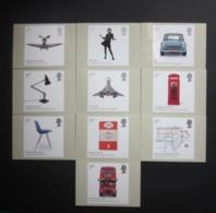 2009 BRITISH DESIGN CLASSICS STAMPS P.H.Q. CARDS UNUSED, ISSUE No. 318 - 1952-.... (Elizabeth II)