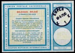 BELGIQUE / BELGIE Vi19 8 FRANCS BELGESInternationalReply Coupon Reponse IAS IRC Antwortschein O EUPEN 10.5.71 - Stamped Stationery