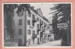 OUDE POSTKAART ZWITSERLAND - SUISSE -  HOTEL MULLER - BRIG - VS Valais