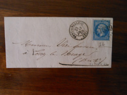 Lettre GC 1539 Fontainebleau Seine Et Marne Avec Correspondance - Poststempel (Briefe)
