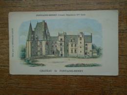 Carte Assez Rare Pub Chocolat Louit , Fontaine-henry , Château De Fontaine-henry - France