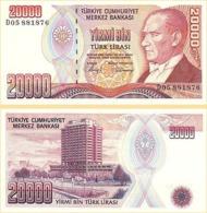 10 Pieces Turkey - 20,000 Lear 1988 UNC - Turkey