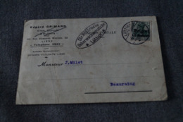 Envoi En Belgique,oblitération Militaire,occupation Allemande 1915,Liège - Beauraing ,superbes Oblitérations,collection - WW I