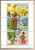 Sharjah - Foglietto FDC: Pinocchio - 1972 - Märchen, Sagen & Legenden