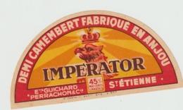 Etiquette Fromage Camembert : Demi  Cercle  Impérator  , St   étienne Ets  Guichard - Fromage