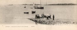 - 50 - CHAUSEY (Manche) - Débarquement Des Passagers Venant De Graville - Cpa Panoramique 28cm X 11cm - Scan Verso - - Frankreich