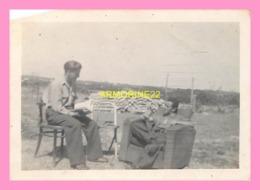 PHOTO  DE SOLDATS A FORT DE L EVE à St Nazaire 1945 - Oorlog, Militair