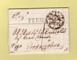 Italie - Fermo - 1831 - Etat De L Eglise - ...-1850 Préphilatélie