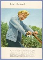 COUPURE De PRESSE 1955 - 17 X 23,5 Cm - LINE RENAUD CHANTEUSE ACTRICE MENEUSE DE REVUE LAS VÉGAS CASINO De PARIS - Autres Collections
