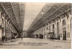 GREVE DES CHEMINS DE FER (GARE ST-LAZARE) - Aspect De La Salle Des Pas-Perdus - Stations, Underground