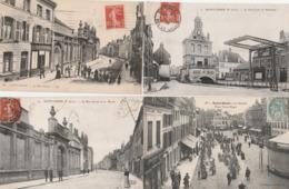 4 CPA:SAINT OMER (62) RUE CARNOT,MUSÉE,LE MARCHÉ PLACE VICTOR HUGO,PONT LEVIS ET MATHURIN..ÉCRITES - Saint Omer