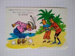 Cp/pk Tintin Rastapopoulos Exposition Internationale Livre Jeunes Le Zoute Kuifje Hergé - Comics