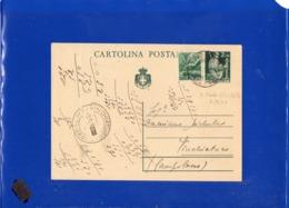 ##(DAN1910)-6-9-1946-Cartolina Postale Democratica L.2 Da S.Paolo Civitate Frazionario (26-48) A Vinchiaturo-Campobasso - 6. 1946-.. Republik