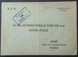 Enveloppe E.F.R. STALAG IV C Dubí Bystřice République Tchèque Vers CROIX-ROUGE Genève Prisonnier De Guerre Sept 1941 - WW II