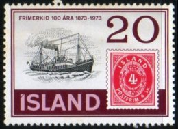Islande 1973 Centenary Iceland Stamps Centenaire Timbre Islandais Bateau Ship N° 475 MNH  TB - 1944-... Republique