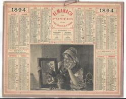 CALENDRIER De 1894 - Format 26.5 X 21 Cm - 3 Feuillets Au Verso De La Gironde - Calendari
