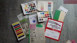 Lot 10 Documents Publicitaires Peinture Nuanciers Rexol Spectrol Florilux Villemer Lefranc Brosses - Frankreich