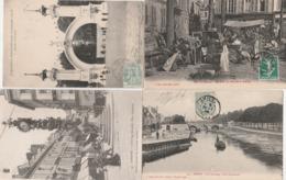 4 CPA:AMIENS (80) HORLOGE DEWAILLY PLACE GAMBETTA,EXPOSITION INTERNATIONALE 1906,MARCHÉ À RÉDERIES,PONT DUCANGE - Amiens