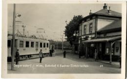 AUTRICHE AUSTRIA Inzersdorf Bahnhof D. Badner Elektrischen Carte Rare - Vienne