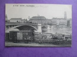 CPA 76 ROUEN PONT BOFELDIEU WAGONS - Rouen