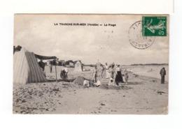 Sur CPA De La Tranche Sur Mer Vendée CAD La Tranche 1910 Recto Et Verso. CAD Fontenay Le Comte Et Brioude. (3311) - Poststempel (Briefe)